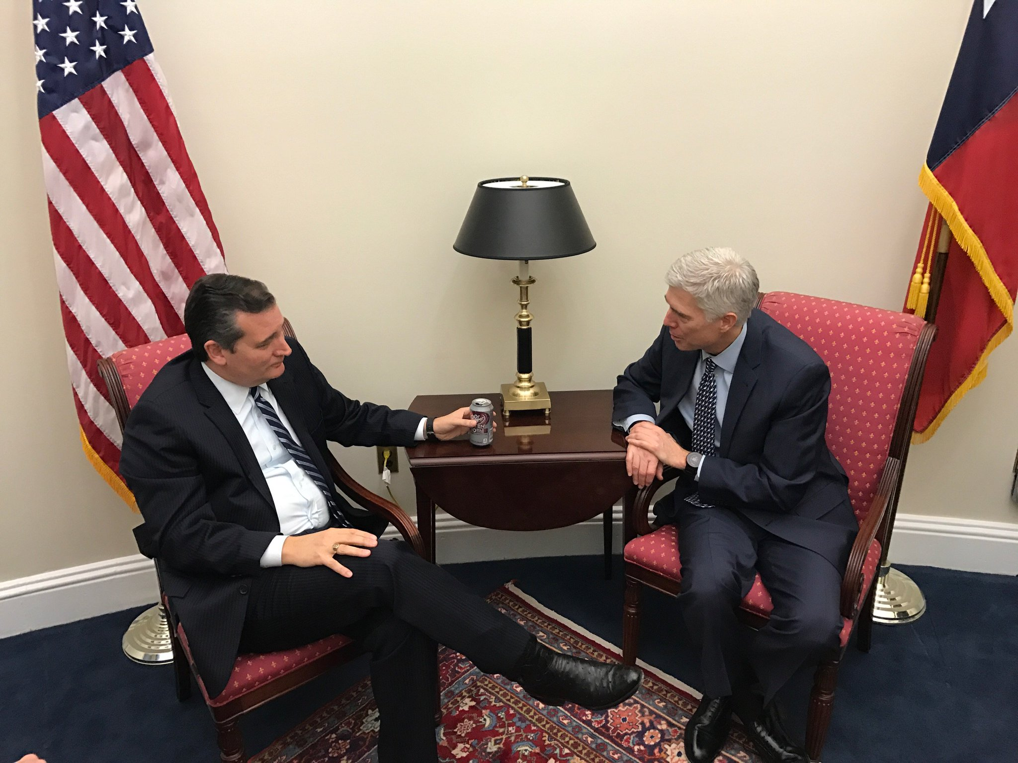 MT @SenTedCruz: Judge Gorsuch, an impressive jurist who follows Constitution. https://t.co/7aFbXmdSX7 https://t.co/STpJwtWQ9x #SCOTUS #PJNET