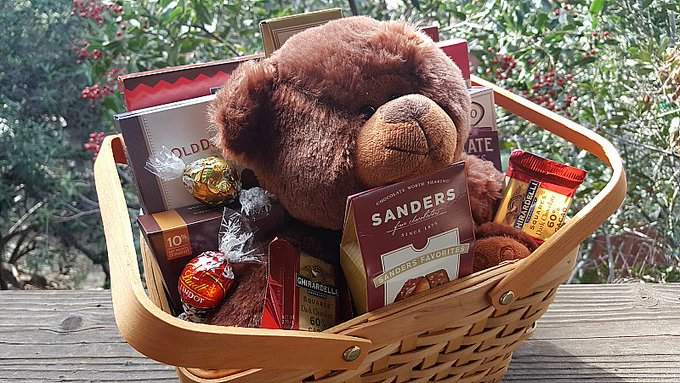 Giveaway – Teddy Bear and Chocolates Gift Basket – Ends 2/25/17