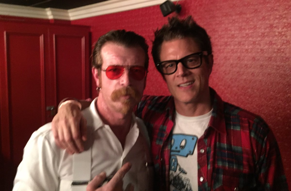 Me and Jesse Hughes tonight after watching Colin Hank's sobering & stellar doc' Eagles of Death Metal: Nos Amis ❤????????❤ https://t.co/ZyWM7kO3dS