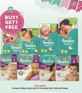Pampers Buy 1 Get 1 Free! https://t.co/9Wb3dSNmfD