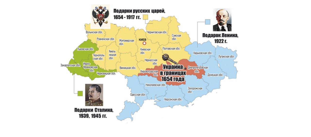 Подаренные части украины