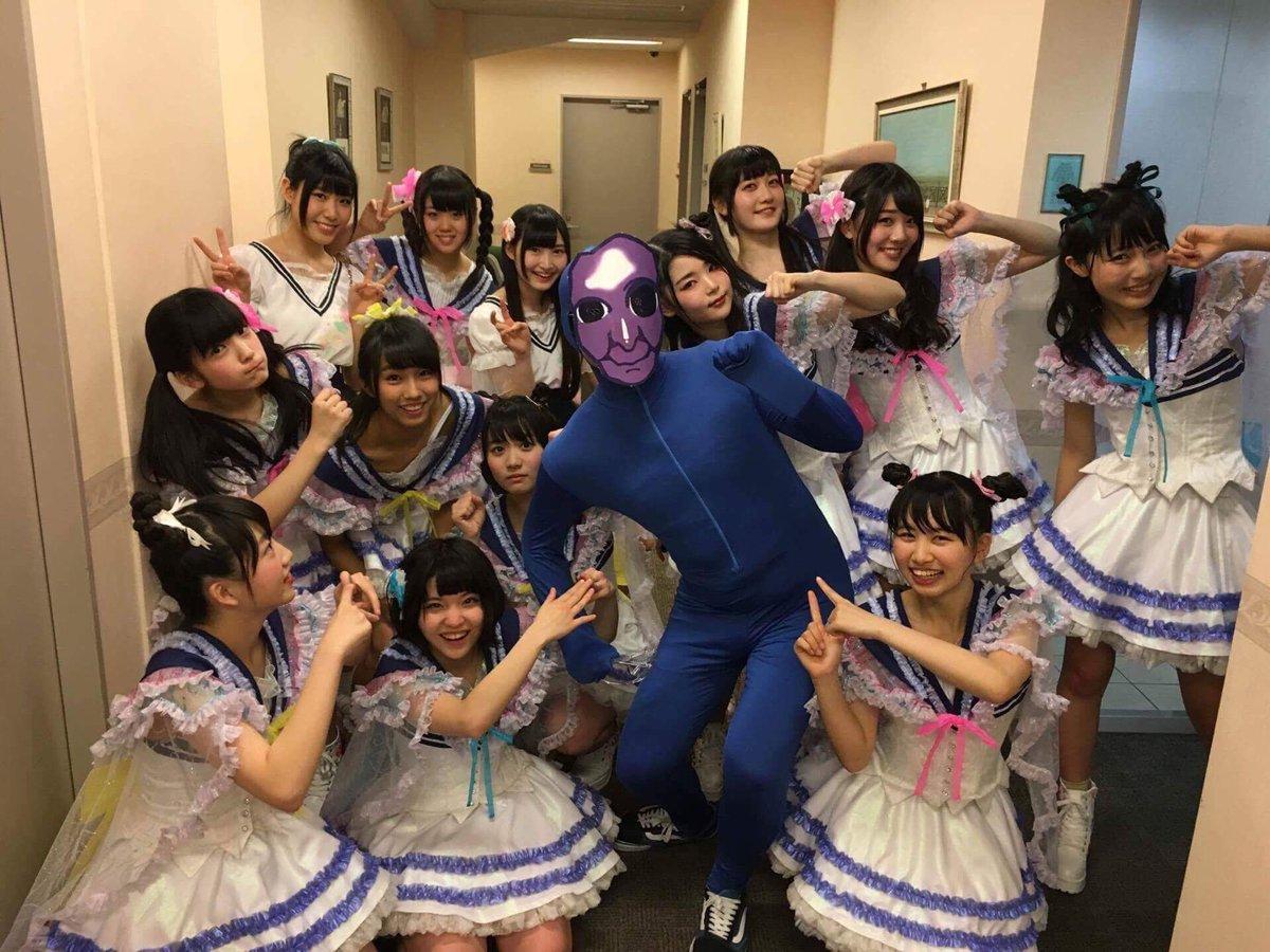 ピクシブさんの公式アイドル虹のコンキスタドールの皆さんと撮影しました!これから青鬼は豆をぶつけられに行きます!#aoon