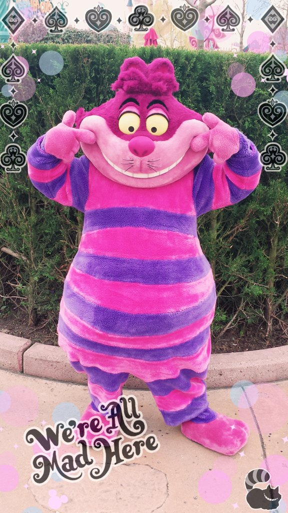 Happy80thDaisy, disneylandparis, DLP, Disney, DisneylandParis, dlp, Cheshirecat, AliceInWonderland