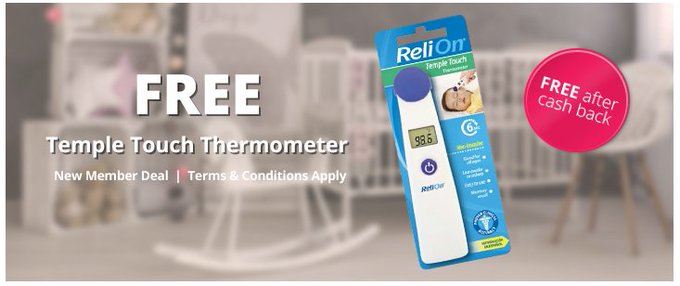 FREE ReliOn Temple Touch Thermometer from Walmart FREEFreebieFriday freebie
