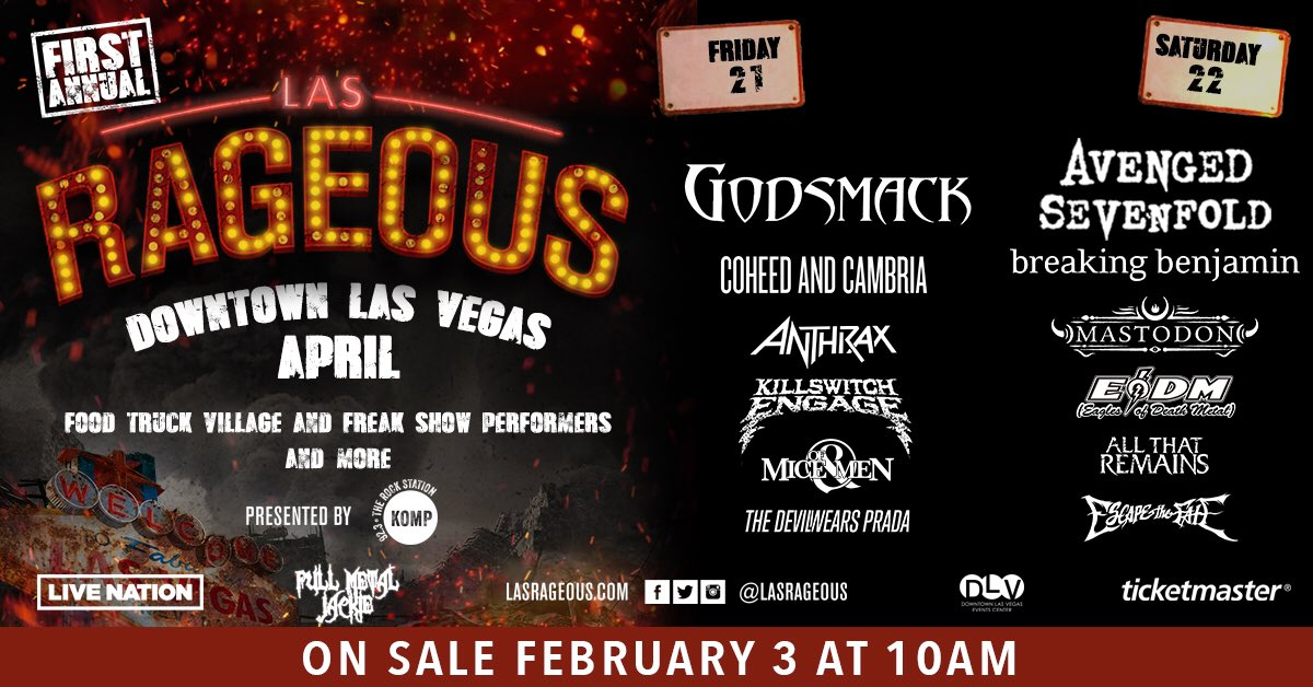 Tickets are on sale now for @LasRageous: https://t.co/z9gQvjIM1Q https://t.co/TvcTDda4e4