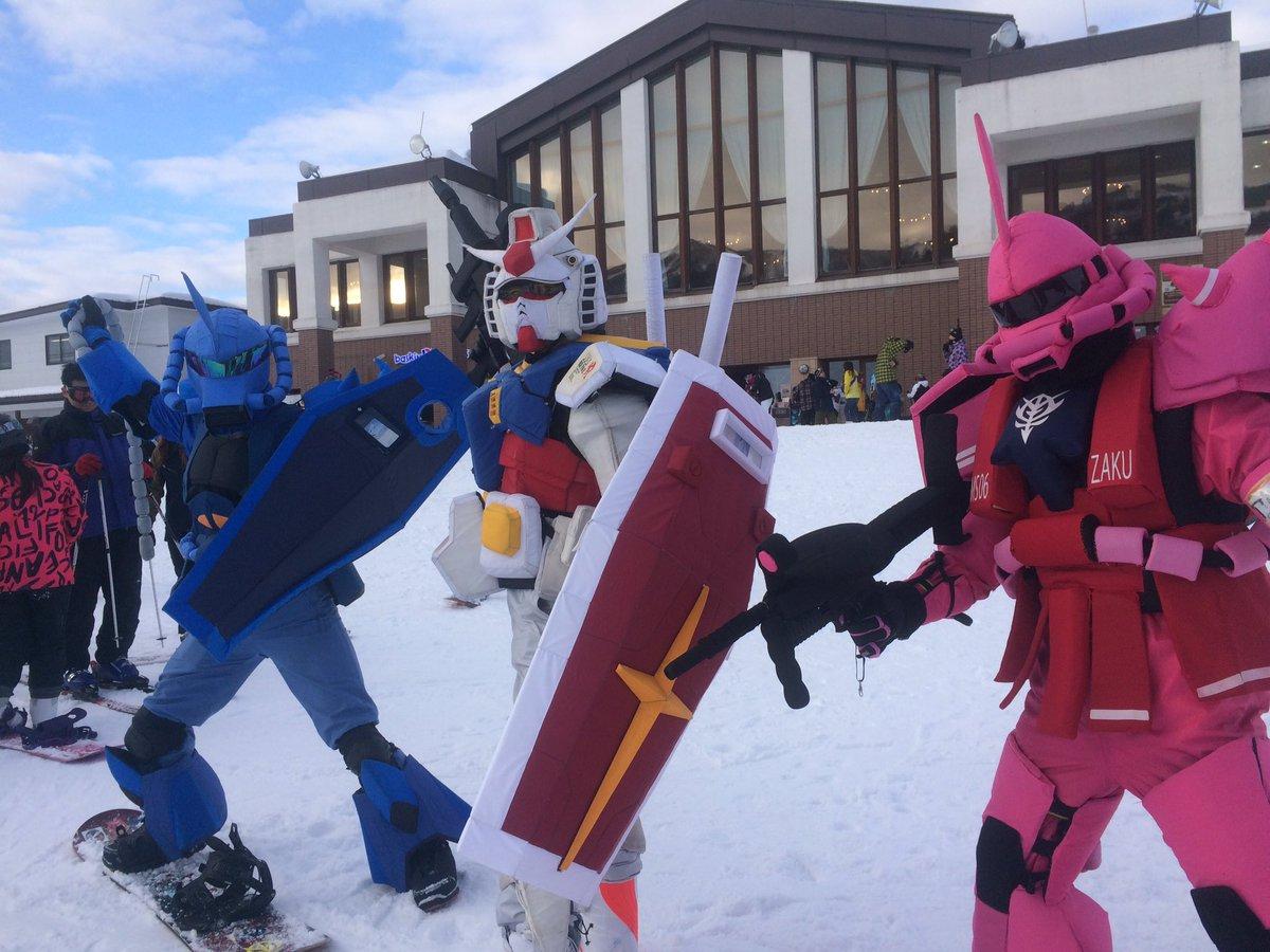生ガンダムさん御一行☆来たぜスキージャム勝山♡とってもとっても紳士な皆さん、今季も巡り逢いを大切に。。ですね♪週末雪山お