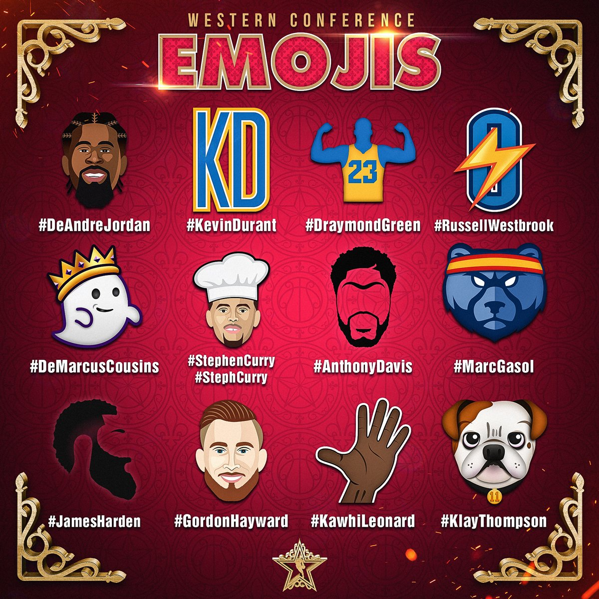 Our #NBAAllStar Emojis are LIVE for the Weekend! https://t.co/fwJfdLbwre