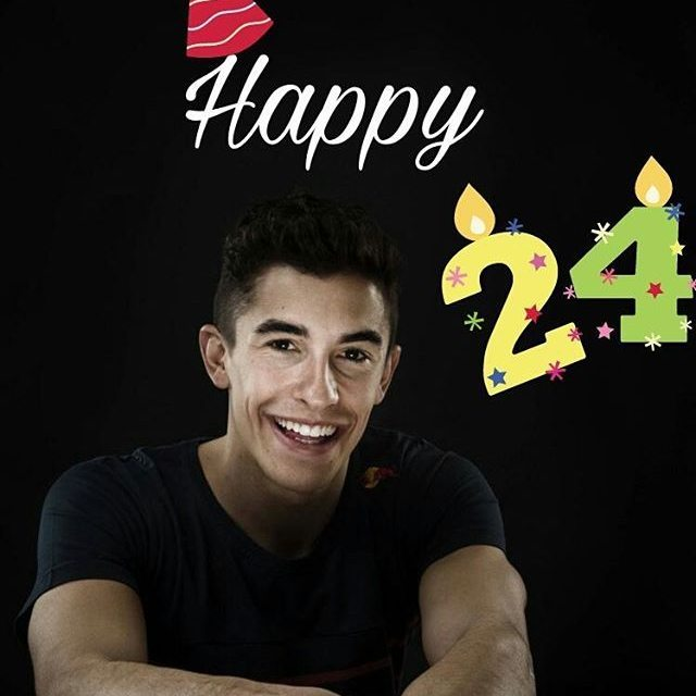 Woah Happy birthday to 24th Marc Márquez!!! Wish you all the best