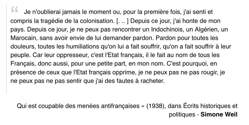 La citation du jour, de  Simone Weil en 1938.
