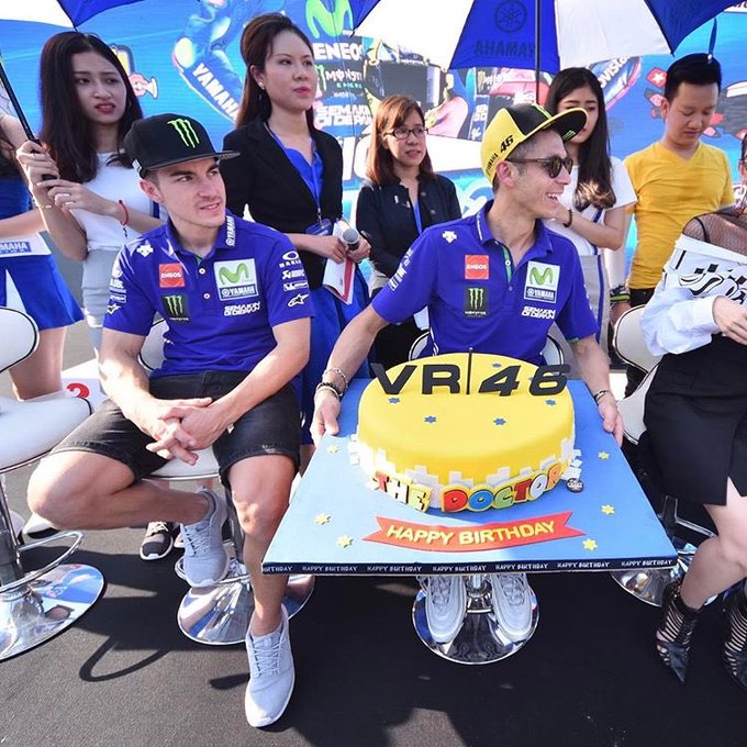 Happy birthday to the greatest rider of all time Valentino Rossi