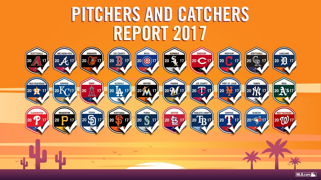 Get excited, folks … All clubs have officially reported to #SpringTraining. https://t.co/Qv0bNQmbrG https://t.co/ynSTqJvBeL