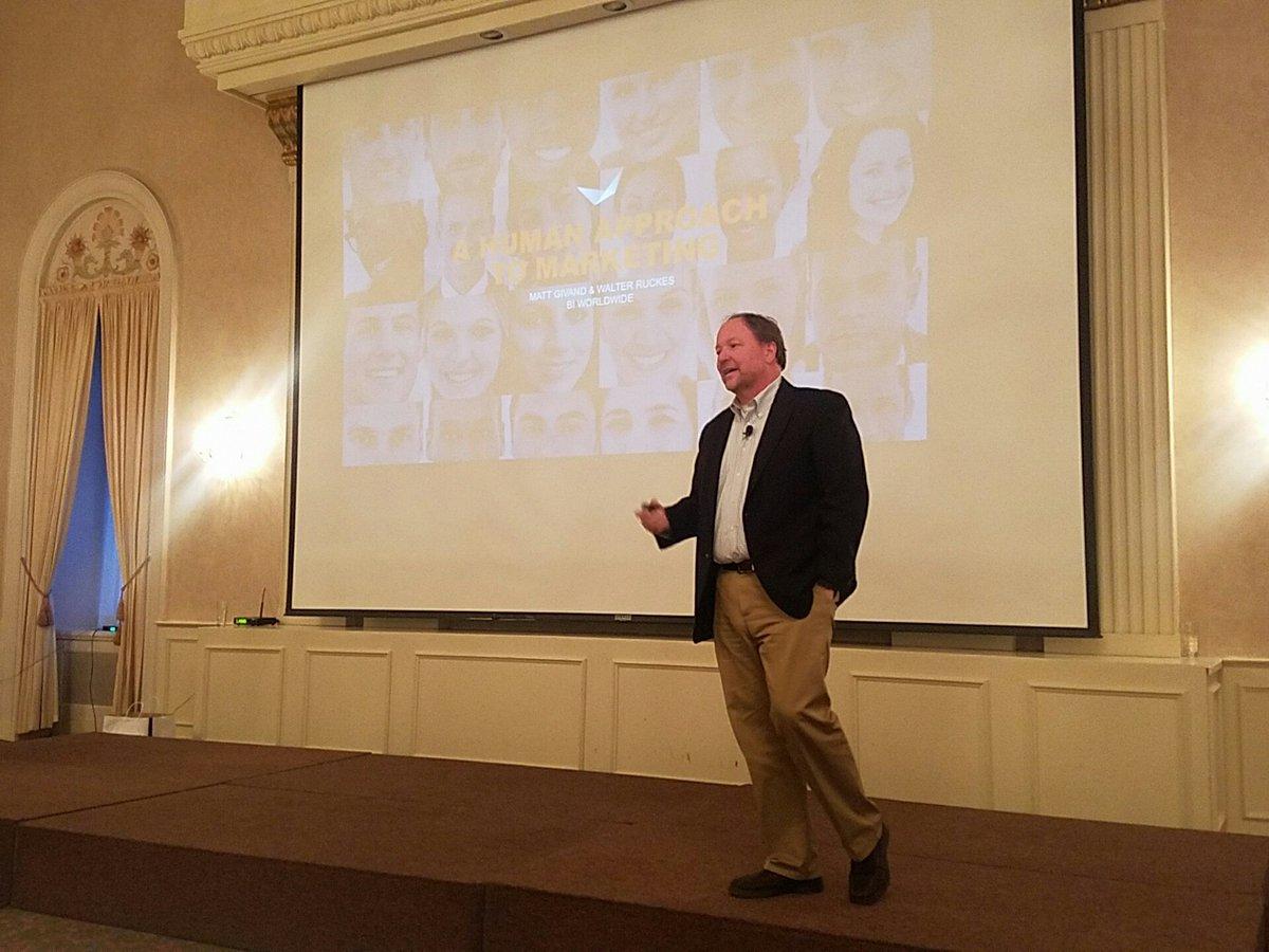 RT @bader_rutter: Walt Ruckes and Matt Givand of @biworldwide  talk about the human approach to marketing. #bmamke https://t.co/MosKGtaJ9Q