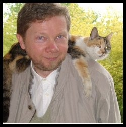 "Happy birthday to Eckhart Tolle ""I have lived with several zen masters, all of them cats.\"""