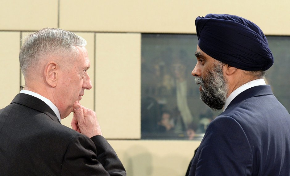 Sajjan expects 'significant' new defence spending but non-committal on more NATO funding