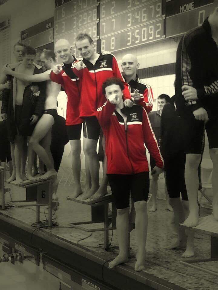 Swimmers going to state Alex W, Noah L, Jarrett J, Ben B, and the back ups Zach S, Wes H, Go break some records! #RaiderStrong https://t.co/Jr3wiqDpeK