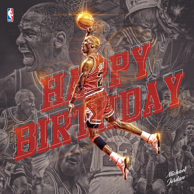 54             Happy 54th Birthday Michael Jordan!!