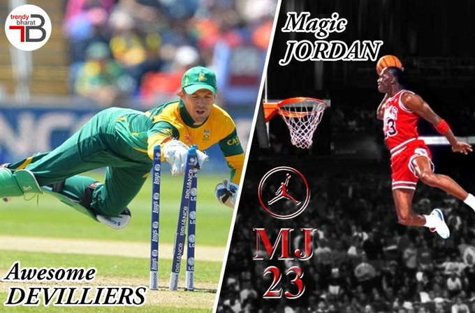 Happy Birthday Legends!! AB Devilliers Michael Jordan
