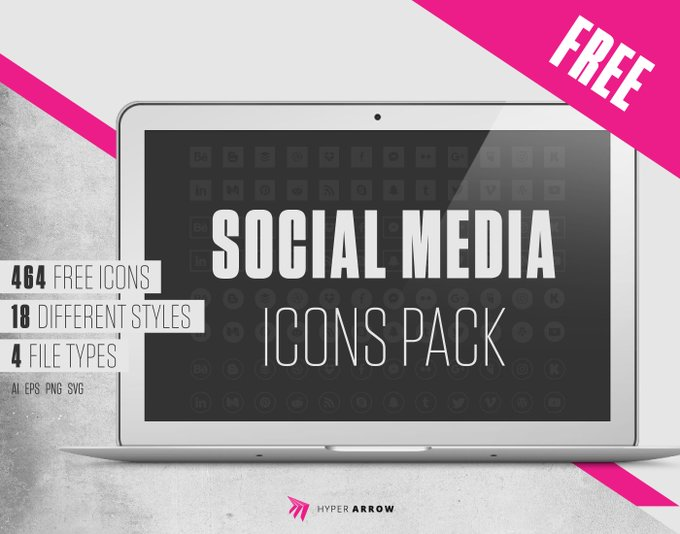 Freebie: SocialMedia icons packDownload it here: