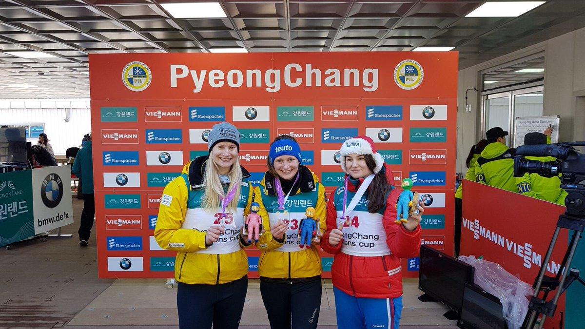 Julia Taubitz gewinnt for Dajana Eitberger den Nationencup der Rennrodler in PyeongChang #LugeLove #BSDTeam https://t.co/TWGhpoUebf