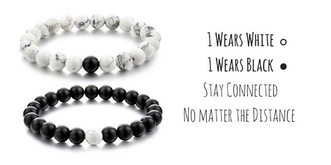 'Distance Bracelets' ��⚫️⚪️  LIKE if you want ��✌️️  Get them Here https://t.co/VfHR6hZ0pw https://t.co/o6OyYoPxjs