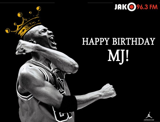 JAKO FM would like to wish legendary basketball player Michael Jordan a very happy birthday!