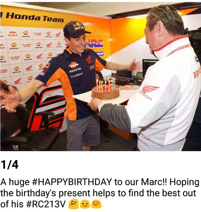Happy birthday   Marc Marquez