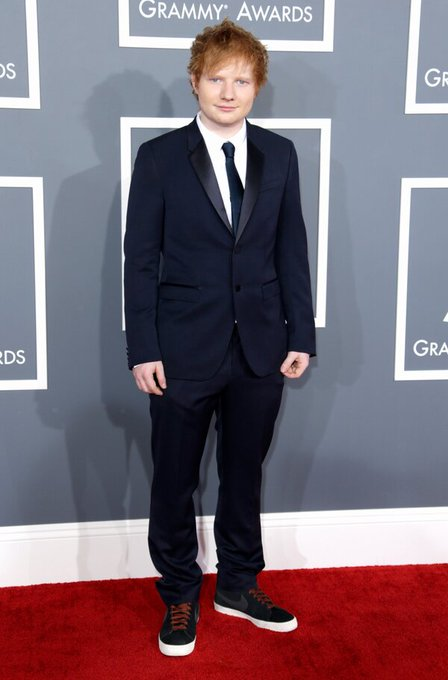 It\s Ed Sheeran\s birthday today. You too can rock the tux and trainers look... Happy Birthday Ed!