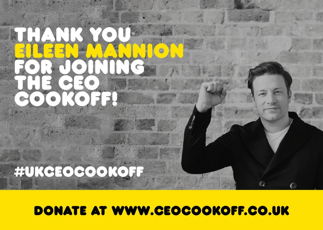 Big thanks to Eileen from @GoogleUK for reaching your fundraising target for my #UKCEOCookOff youre smashing it!!! https://t.co/e6WOxifKh9