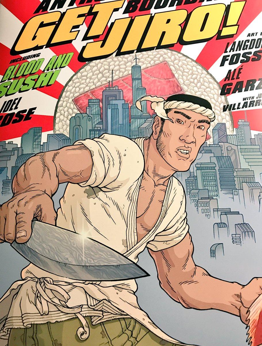 今日入荷してた「GET JIRO!」というアメコミ邦訳版、「日本よこれがSUSHI職人だ」という内容で、寿司職人版ニンジ