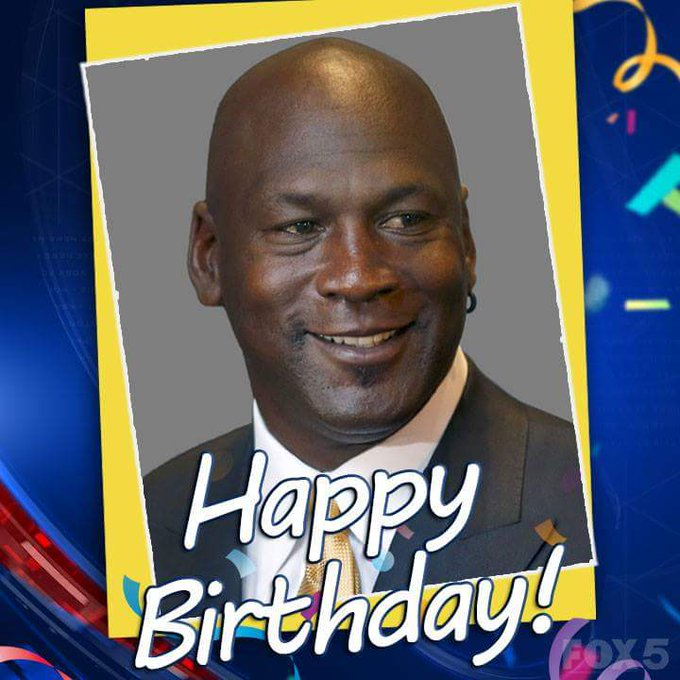 HAPPY BIRTHDAY:   Athlete Michael Jordan is 54 today!