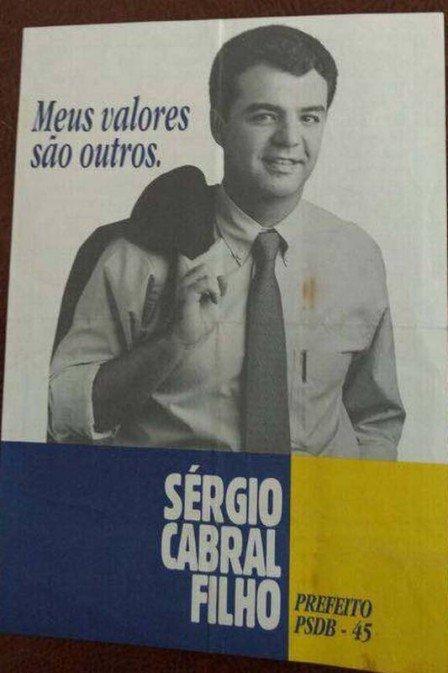 Internautas ironizam slogan que Sérgio Cabral usou há 20 anos.