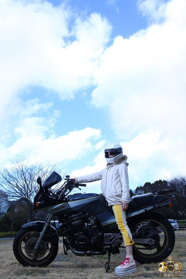 170217仮面女子:小島夕佳()at『カススク125』撮影より。「ばくおん!!」の来夢先輩にしか見えなくなってきたので