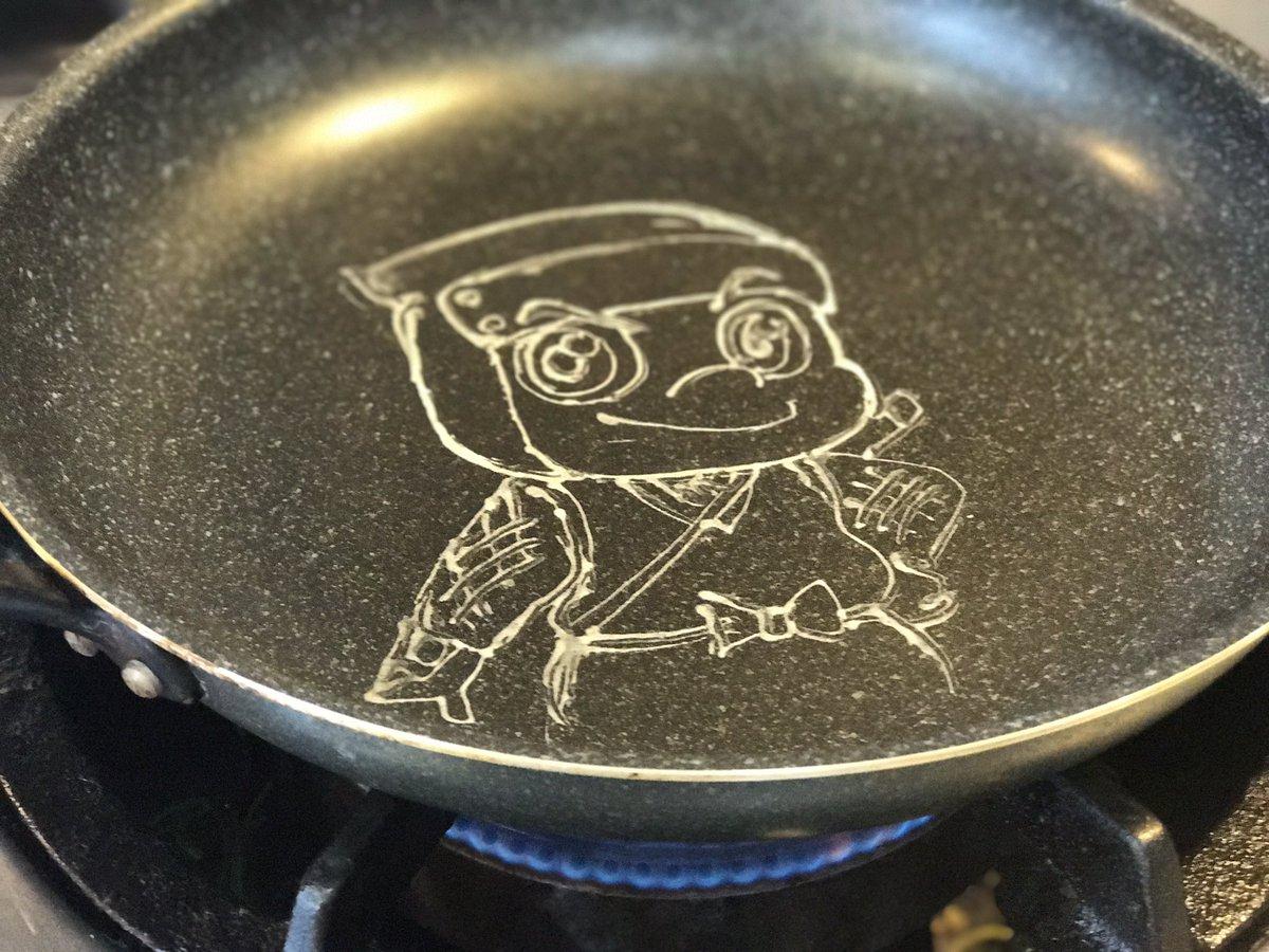 パンケーキアートの作り方〜 怪盗ジョーカー ハチ Kaitou Joker Hachi #pancakeart #パンケ
