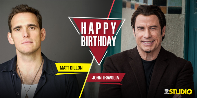 Another year older, another year wiser! Here s wishing John Travolta and Matt Dillon a very happy birthday!