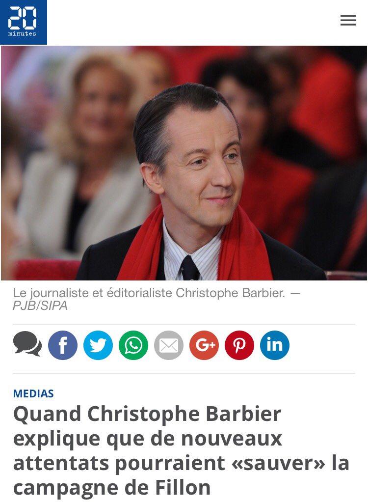Cet abruti cynique de @C_Barbier devrait être poursuivi pour appel au crime terroriste. https://t.co/uyE00HHINZ