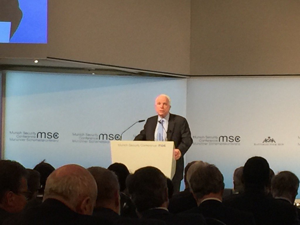 McCain in Munich makes the case that Trump's isolationism doesn't represent anyone in US gov't but himself. #MSC2017