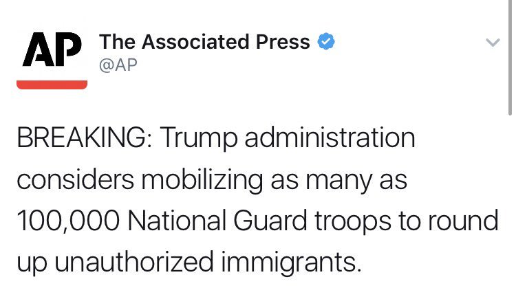 A government governing from fear is a government governing from weakness. This isn't what the National Guard is for.
