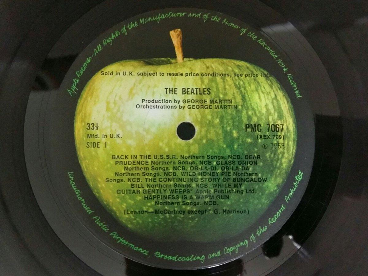 THE BEATLES - WHITE ALBUM (1968) APPLE PMC 7067英初版モノ盤完品持ってるの
