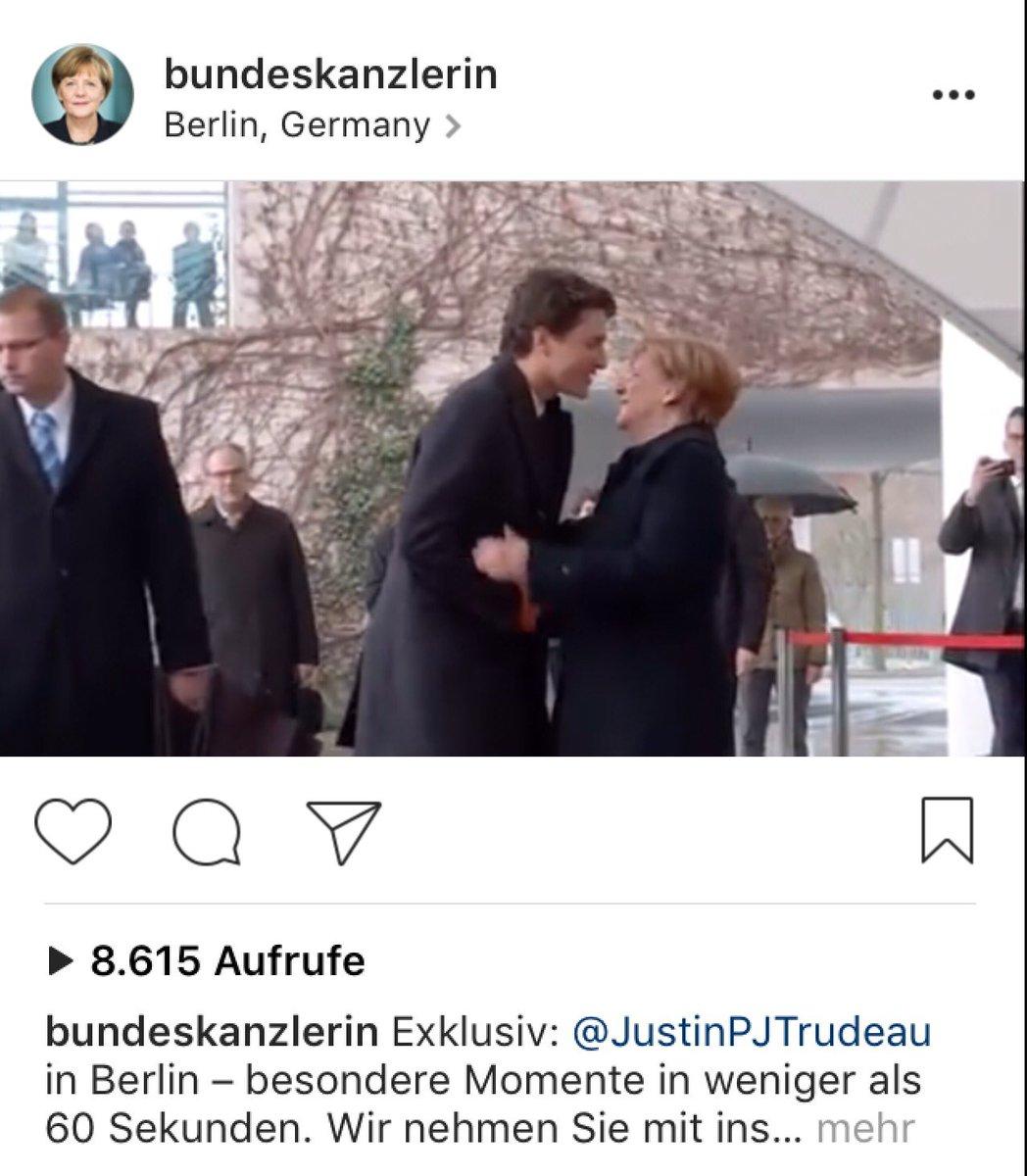 Lohnt sich heute, der Bundeskanzlerin bei Instagram zu folgen. https://t.co/AVEbe9Zt6y