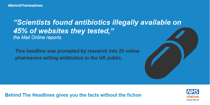 Online pharmacies 'prescribing antibiotics illegally'. More on this news story here: https://t.co/weYnIshvjs #BehindTheHeadlines