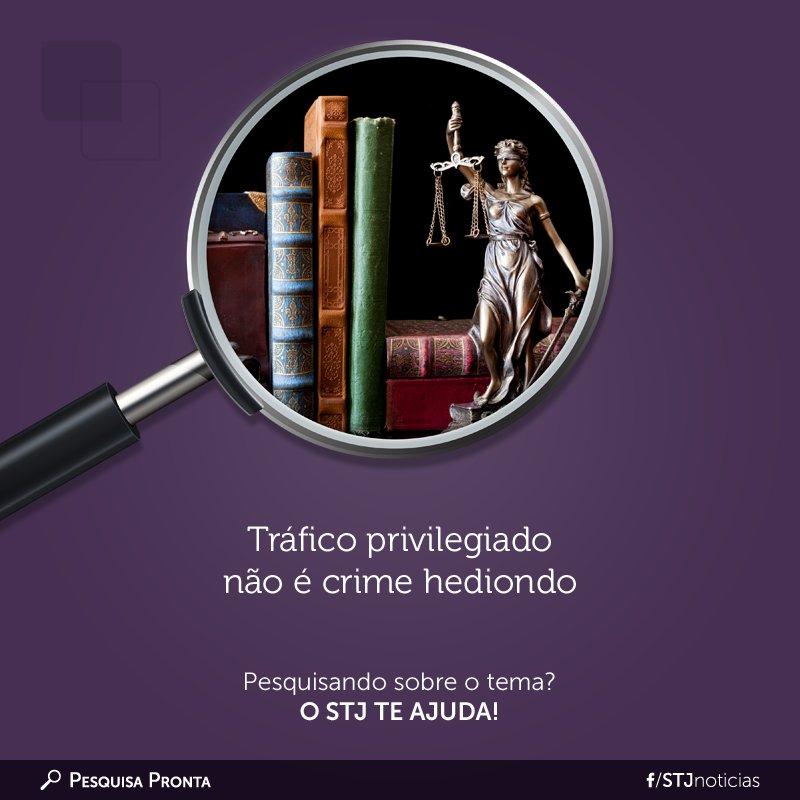 Hediondez do tráfico privilegiado de drogas é o novo tema da #PesquisaPronta.