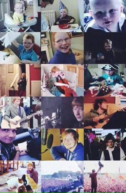 Wao, it\s 26 years, time passes very fast, happy birthday Ed Sheeran I love you and I admire you