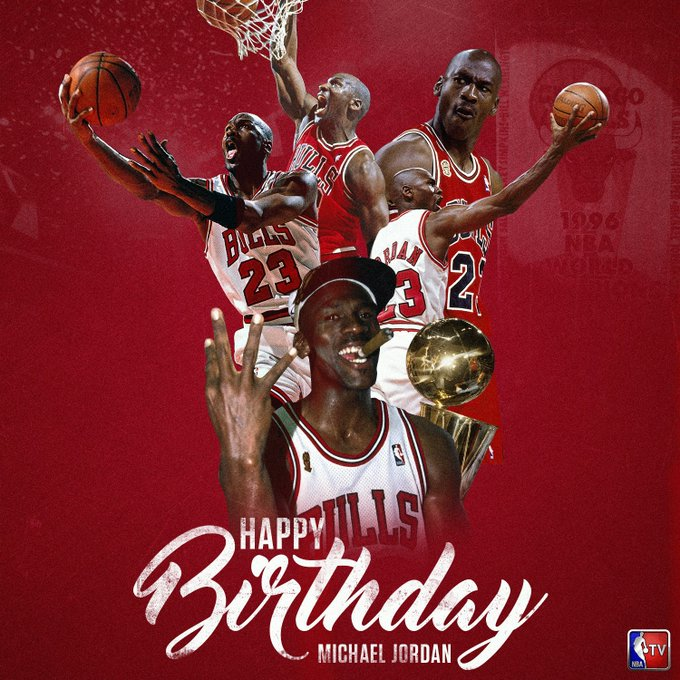 Happy 54th Birthday, Michael Jordan! 6x NBA Champion, 5x MVP & 14x All-Star!