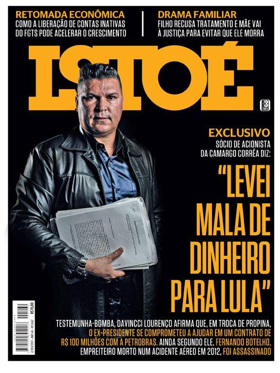 """Na ISTOÉ desta semana: """"Levei mala de dinheiro para Lula"""" #Exclusivo Leia em https://t.co/61vzWOupuG"""