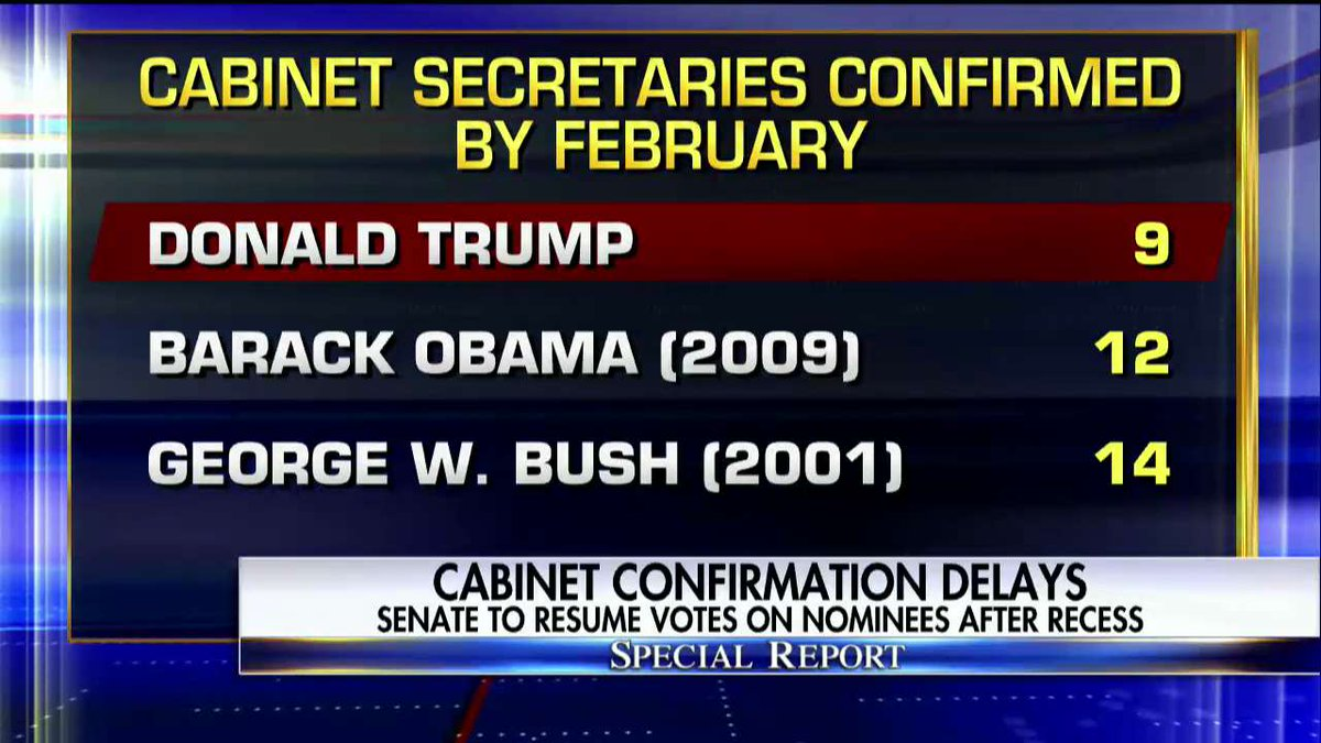 Cabinet Secretaries confirmed by February. #SpecialReport