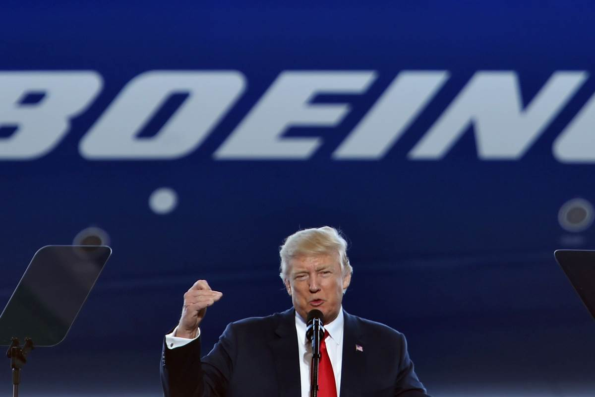 President Trump visits Boeing to tout jobs, manufacturing