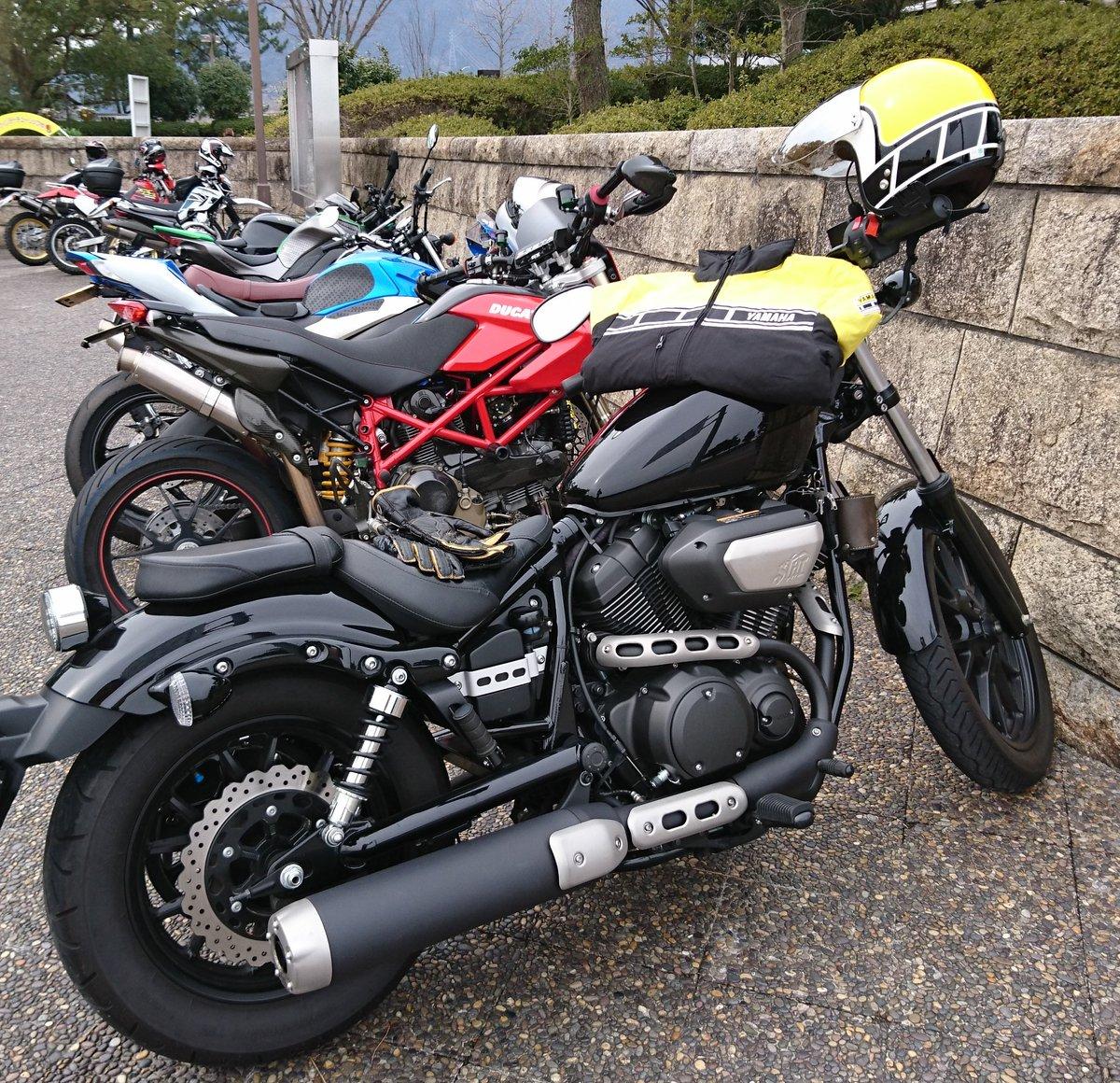 今日は まずまずの #バイク日和 ✴そこまで寒くなく楽しく走れたよ🎶結構な台数での #ツーリング 😁…………と見せかけ、