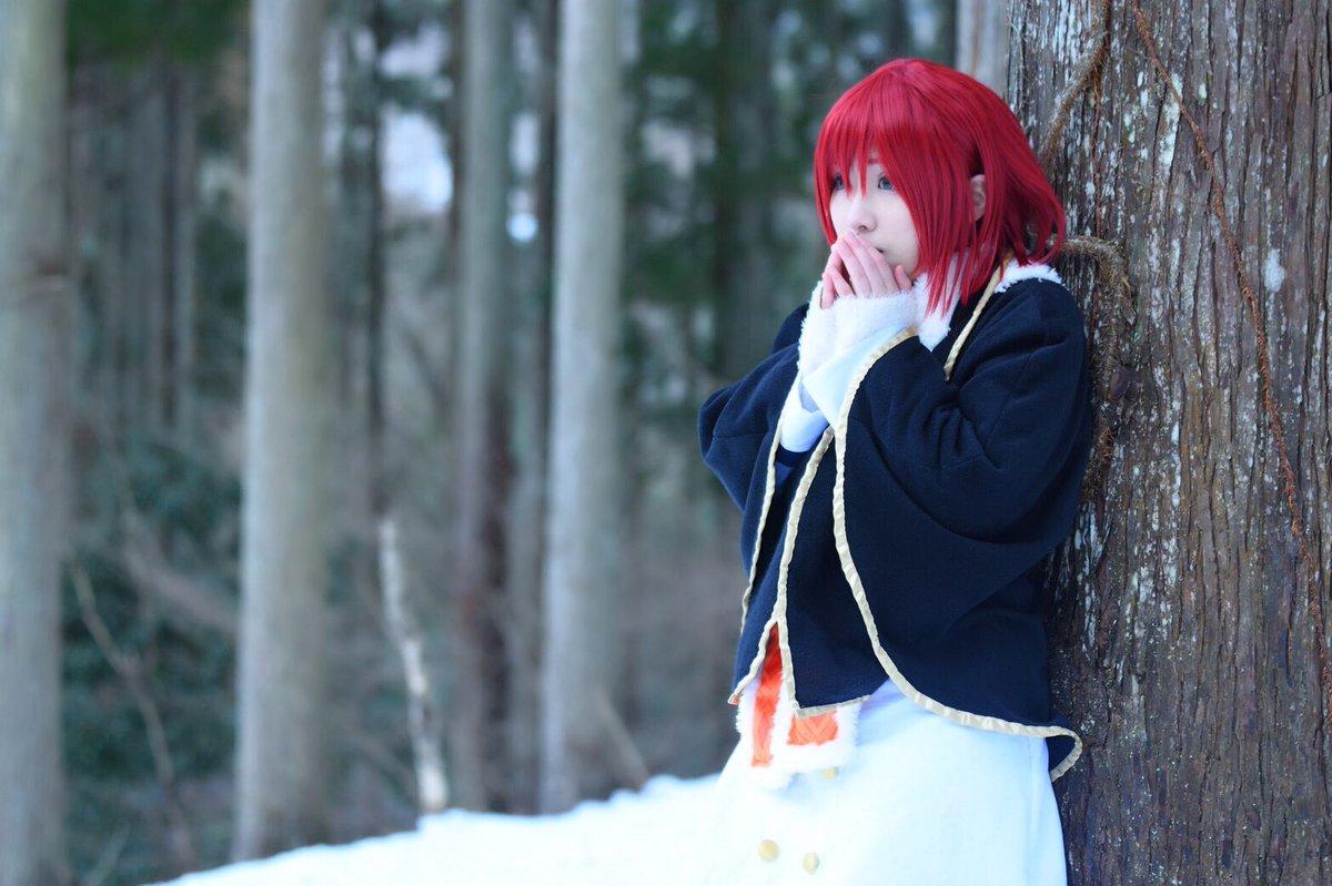 【速報!!】今日は念願の赤髪の白雪姫やってきたよー!!初雪ロケ!!2人で苦戦しつつ、めっちゃ笑った1日でした!、楽しかっ