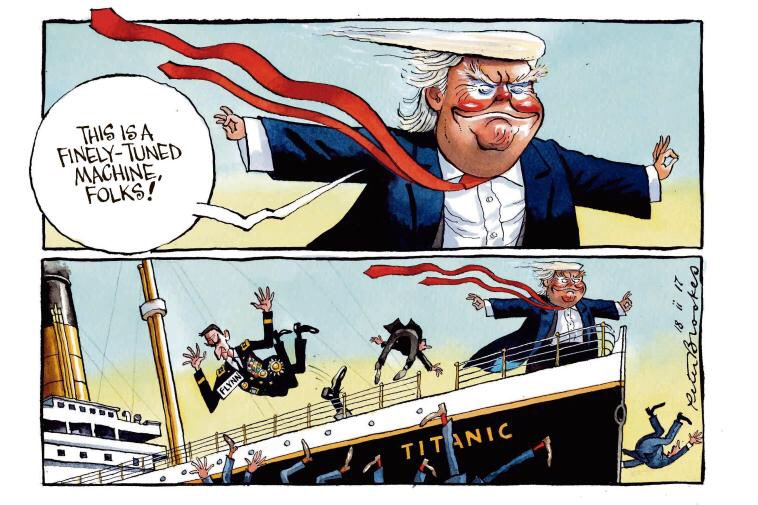RT @BrookesTimes: My cartoon Saturday @TheTimes. #fakenews from the #TrumpPressConference https://t.co/GfkeRSp42v