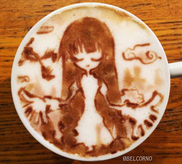 ラテアート【君の知らない物語】@化物語LatteArt【Bakemonogatari】#君の知らない物語 #化物語 #N